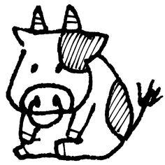 座る牛 おなか空いたモウ座っているウシです[illust]  #cute #art #illustration #monochrome #イラスト #手描きイラスト #ゆるい #かわいい #素材 Cow Illustration, London Illustration, New Year Illustration, Cute Little Drawings, Aesthetic Template, Bullet Journal Layout, Watercolor Drawing, Drawing Techniques, Chinese New Year
