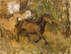 Crossing the Ford --- Alfred James Munnings (1878–1959)