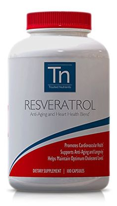 Trusted Nutrients 100 Pure Resveratrol 1000mg 180 Count Special AntiAging Blend with TransResveratrol Grape Seed Extract Standardized to Contain 95 Polyphenols Acai and More The Most Complete Anti Aging Supplement *** Check out the image by visiting the link.  This link participates in Amazon Service LLC Associates Program, a program designed to let participant earn advertising fees by advertising and linking to Amazon.com.