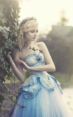 Blue dress fit for a faerie princess!... Baby Dress