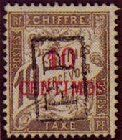 1903 Morocco, 10c on 10c postage due overprinted boxed P.P..