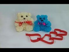 Bildergebnis für manualidades con lana faciles paso a paso Yarn Dolls, Pom Pom Crafts, Halloween Coloring, Felt Fabric, Origami, Projects To Try, Scrap, Teddy Bear, Valentines