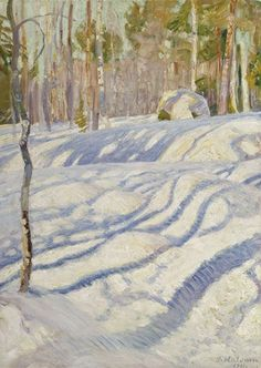 Artist from Sweden Winter Landscape, Landscape Art, Landscape Paintings, Scandinavian Paintings, Scandinavian Art, Winter Trees, Winter Art, National Gallery, Snow Art