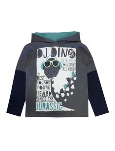 dino DJ sweater boys graphic top