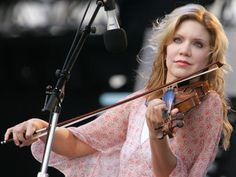 Alison Krauss  My daughters name sake. Did you know? I guess it marked her cause she has the voice of an angel as well...