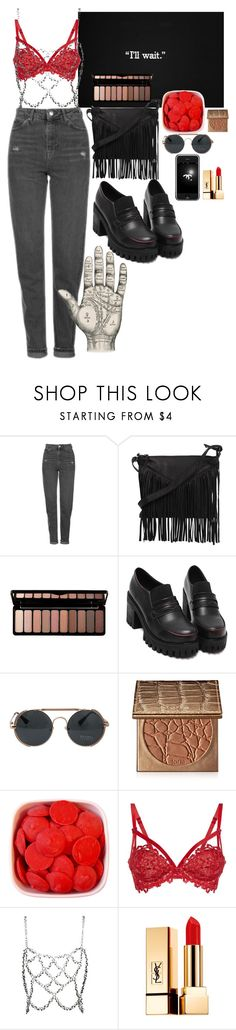 """151"" by lari-z ❤ liked on Polyvore featuring Topshop, Cut N' Paste, e.l.f., tarte, Chanel, Dita Von Teese, Fannie Schiavoni and Yves Saint Laurent"