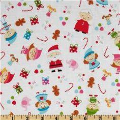 Santa's Workshop Main White fabric