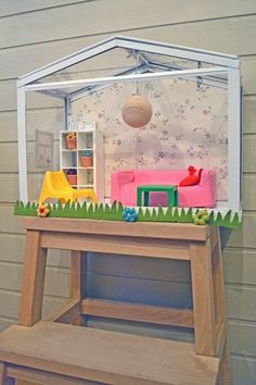 10 IKEA Products Turned Into Dollhouses: Project by: Mommo Design Product Used: SOCKER greenhouse