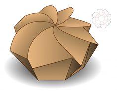 Diseño de plantilla troquelada caja de embalaje | Descargar Vectores Premium Diy Gift Box, Diy Box, Box Packaging, Packaging Design, Paper Toys, Paper Crafts, Paper Folding Techniques, Bee Drawing, Origami Paper Art