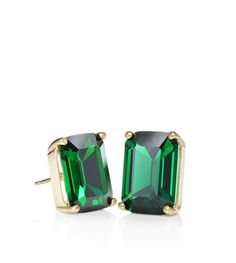 Kate Spade New York Emerald Green Cut Stud Earrings