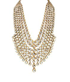 Layers: Uncut diamonds set in 22 carat gold by Mahesh Notandass