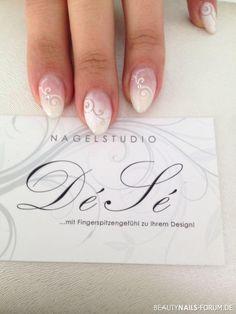 Nägel zur Hochzeit mit Airbrush / Hochzeitsnägel