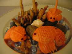 Veggie Art Fish art fish, fruit art, food art, veggi art