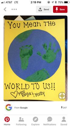 Earth day crafts - Easy Crafts for All Fathers Day Art, Easy Fathers Day Craft, Mothers Day Crafts For Kids, Easy Toddler Crafts, Toddler Art, Baby Crafts, Kids Crafts, Earth Day Crafts, Footprint Crafts