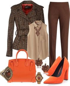 Look para oficina Source by outfit casual Classy Work Outfits, Chic Outfits, Trendy Outfits, Winter Fashion Outfits, Autumn Winter Fashion, Winter Wear, Vintage Street Fashion, Trouser Outfits, Plus Size Outfits