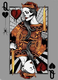 play card queen