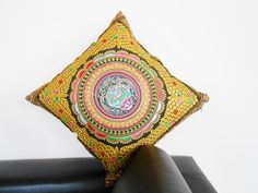 Pillow Cushion Cover Embroidered in Gold