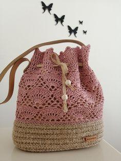 Crochet Handbags, Free Crochet, Bucket Bag, Diy And Crafts, Crochet Patterns, Fashion, Handmade Bags, Crochet Bag Patterns, Groomsmen