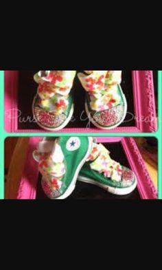 04f0bc89d Soooooooo cute Custom Converse Shoes, Converse Design, Sparkle Shoes, Bling  Shoes, Custom