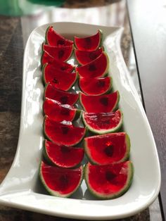 watermelon Jell-O shots from kitchen. Contact us and get your personalized food for the day. Jelly Shots, Custom Cakes, No Bake Cake, Memorial Day, Watermelon, Dallas, Bakery, Celebration, Fruit