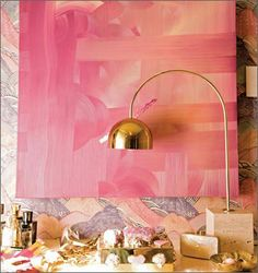 Kelly Wearstler's inspired pink & gold.