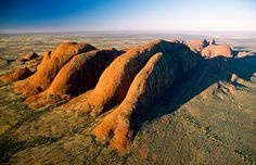 Aerial view of the Olga Mountains, Australia (© National Geographic Image Collection/Alamy)