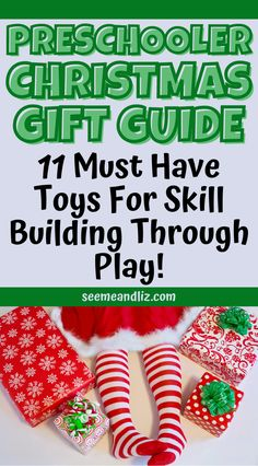 It can be tricky coming up with Christmas gift ideas for preschool kids. How is a parent to decide? Check out this great preschooler Christmas 2021 gift guide packed with screen free brain boosting toys! All toys have been carefully selected by a child development expert! Preschool Learning Toys, Preschool Christmas Activities, Infant Activities, Fun Learning, Preschool Activities, Christmas Gift Guide, Christmas Gifts For Women, Gifts For Teens, Christmas Fun
