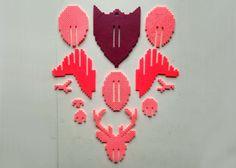Deer Head 3D Perler Bead Puzzle Wall Decor door MIZGVUSdesigns