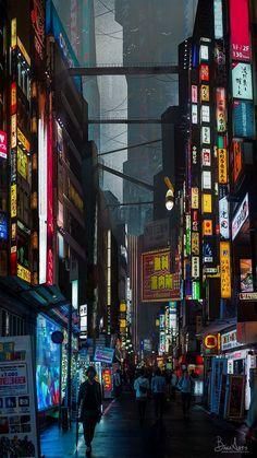 Neo-Tokyo by TheBakaArts.devia... on @DeviantArt