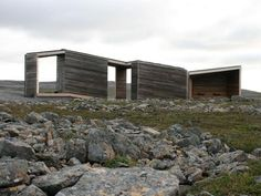 Norwegian practice Pushak architects have designed the Reinoksevatn Rest Stop, a wooden structure that serves as an open-air rest area. Landscape And Urbanism, Wood Architecture, Open Fireplace, Small Buildings, Bird Watching, House Design, Mansions, House Styles, Places