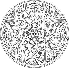 Free printable coloring mandala