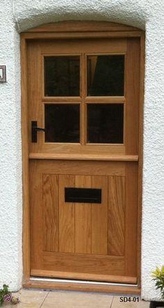 Bespoke Doors Stable Door with 4 Panes made from Oak Cottage Front Doors, Victorian Front Doors, Yellow Front Doors, Cottage Door, Wood Front Doors, Oak Doors, Entry Doors, Garage Doors, Contemporary Front Doors