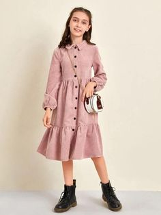 Cute Girl Dresses, Girl Outfits, Fit Flare Dress, Fit And Flare, Jeans Dress, Shirt Dress, Blouse, Girl Fashion, Fashion Dresses