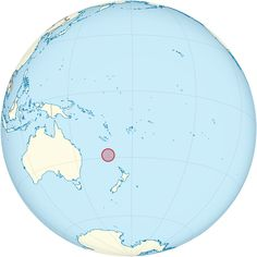 Norfolk Island on the globe (Polynesia centered) ◆Norfolk Island - Wikipedia http://en.wikipedia.org/wiki/Norfolk_Island #Norfolk_Island