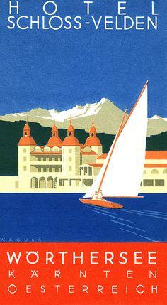 Hotel Schloss-Velden luggage label. #vintage #travel
