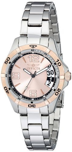 cc6a7bac4a5f Invicta Women s 0092 II Collection Sport Day Stainless Steel Watch. Precise  Swiss-quartz movement