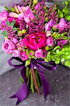 DIY Magenta Wedding Bouquet by Greyson Design and photographed by Dany C Photography. Magenta Wedding, Purple Wedding Bouquets, Spring Wedding Colors, Bride Bouquets, Floral Wedding, Wedding Flowers, Pink Bouquet, Spring Weddings, Cute Wedding Dress