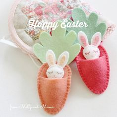 Happy Easter! . #easterwishes #mollyandmama #bittybunnies #bittybunny #pdfpattern #eastersewing #eastercraft
