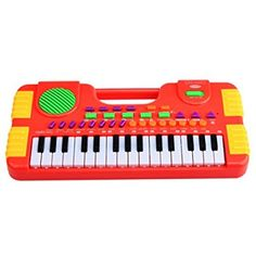 Piano for Kids, WOLFBUSH 31 Key Synthesizer Multi-function Electronic Keyboard Play Piano Organ Children Educational Toy - Red