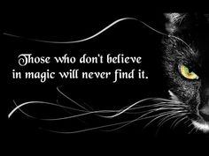 Those who don't Believe in Magic...will never find it! ❤