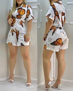 Summer Outfits Women, Casual Summer Outfits, Short Outfits, Casual Wear, Trend Fashion, Fashion Wear, Girl Fashion, Fashion Outfits, Chic Type