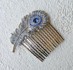 I would totally buy this for the wedding if it was closer to the Harvest Moon blue feather Peacock Wedding, Blue Wedding, Dream Wedding, Feather Hair, Blue Feather, Wedding Prep, Wedding Ideas, Online Registry, Bridesmaid Hair Accessories