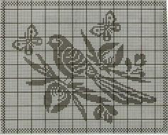 Cross Stitch Bird, Simple Cross Stitch, Cross Stitch Charts, Cross Stitch Patterns, Crochet Dollies, Crochet Birds, Crochet Art, Crochet Skull Patterns, Crochet Designs
