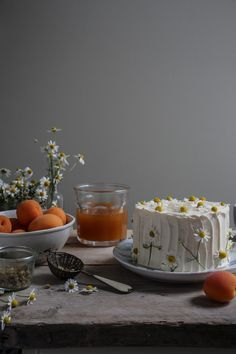chamomile apricot vertical roll cake labnoons virtual birthday party.