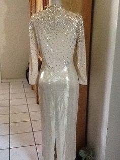 St. John evening gold evening dress w paillettes by Angelsvintage1, $175.00