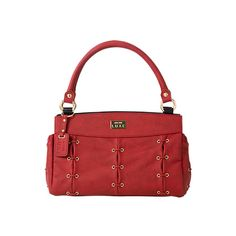 Miche Moscow Shell for Classic Bags - Suede faux leather is soft and luxurious to the touch, yet Moscow's bold red color is the true show-stopper! You'll fall in love with her sophisticated styling featuring gold hardware and end pockets as well as rivet, link and lacing details. Comes with matching handles. $69.95 #michebags #luxe