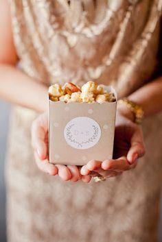 Popcorn boxes with monogram