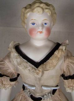 Antique ABG Chinahead Parian Blonde Doll with Curls | eBay