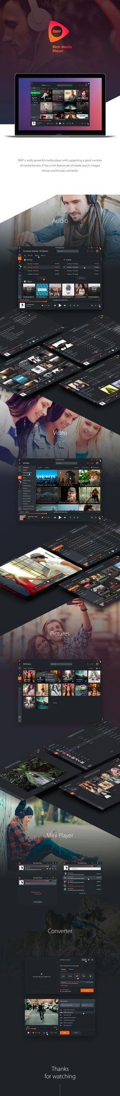 Rich Media Player on Behance
