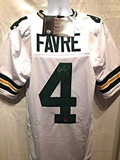 a819b85a8 Brett Favre Green Bay Packers Signed Autograph White Custom Jersey Brett  Favre Certified at Amazon s Sports Collectibles Store  greenbaypackers   giftideas ...